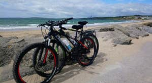 Bikes at the beach with  Wild Atlantic Sports - Cycling Tours, Cork