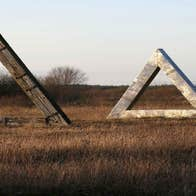 View of sculptures.