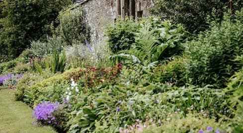 Herbacious border at Loughcrew Historic Gardens County Meath