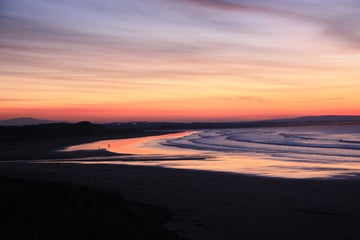 Image of a sunset on Enniscrone beach in County Wexford