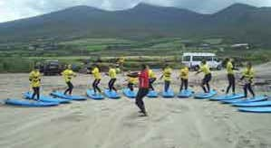 Practicing on the beach with Dingle Surf School, County Kerry.