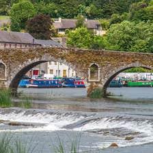 Seven-arch bridge on the river Barrow, Graiguenamanagh, County Kilkenny