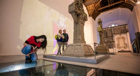 People looking at displays in the Medieval Mile Museum in Kilkenny City