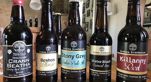 A selection of Brehon Brewhouse bottles