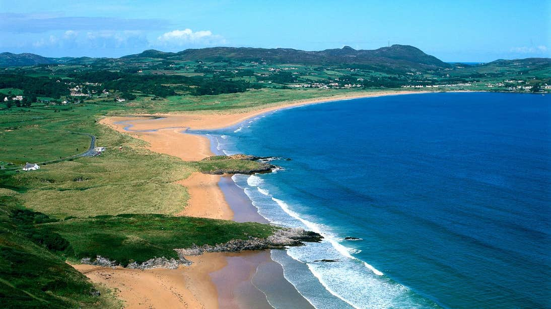 View of the beaches at Portsalon County Donegal