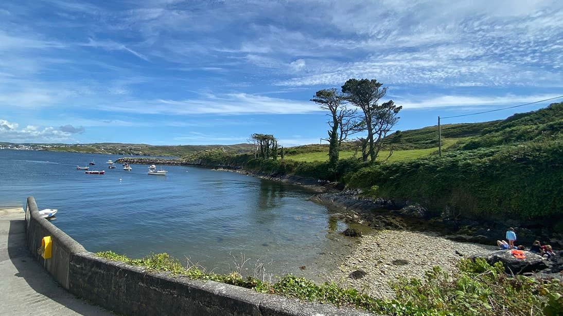 Clear waters and stone beach on Sherkin Island, County Cork