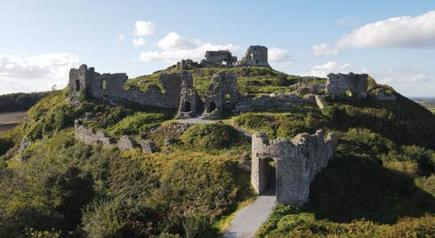 Aerial view of the Rock of Dunamase, County Laois