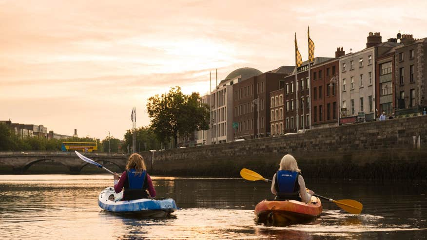 Go kayaking on the River Liffey.