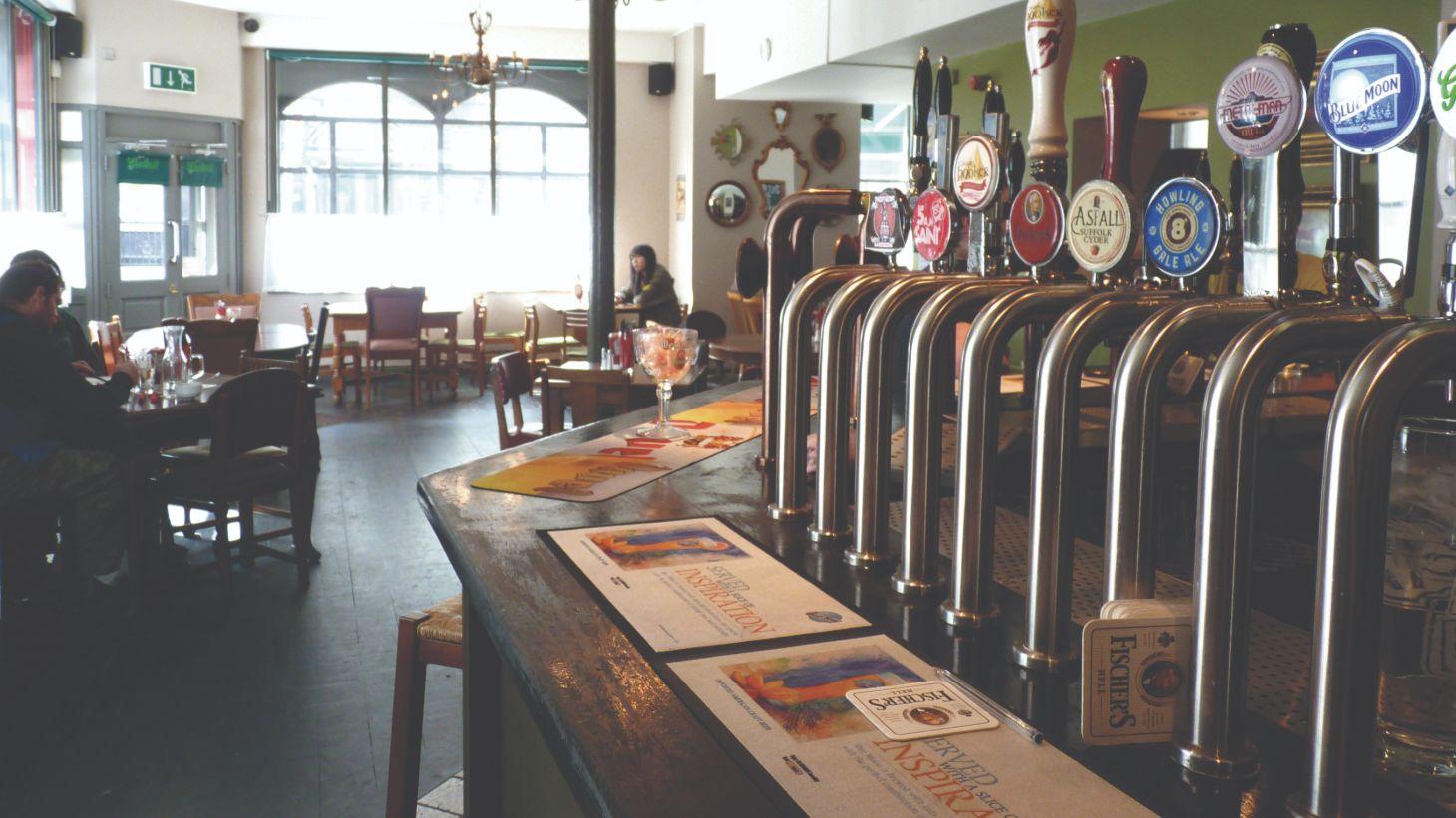 Beer lovers will enjoy the huge range of beers at The Black Sheep.