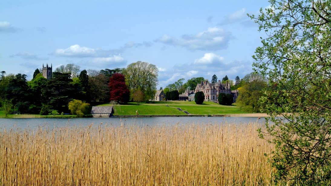 A lake in front of Castle Leslie Estate, County Monaghan
