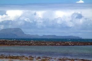 Image of Clare Island from Roonagh Pier