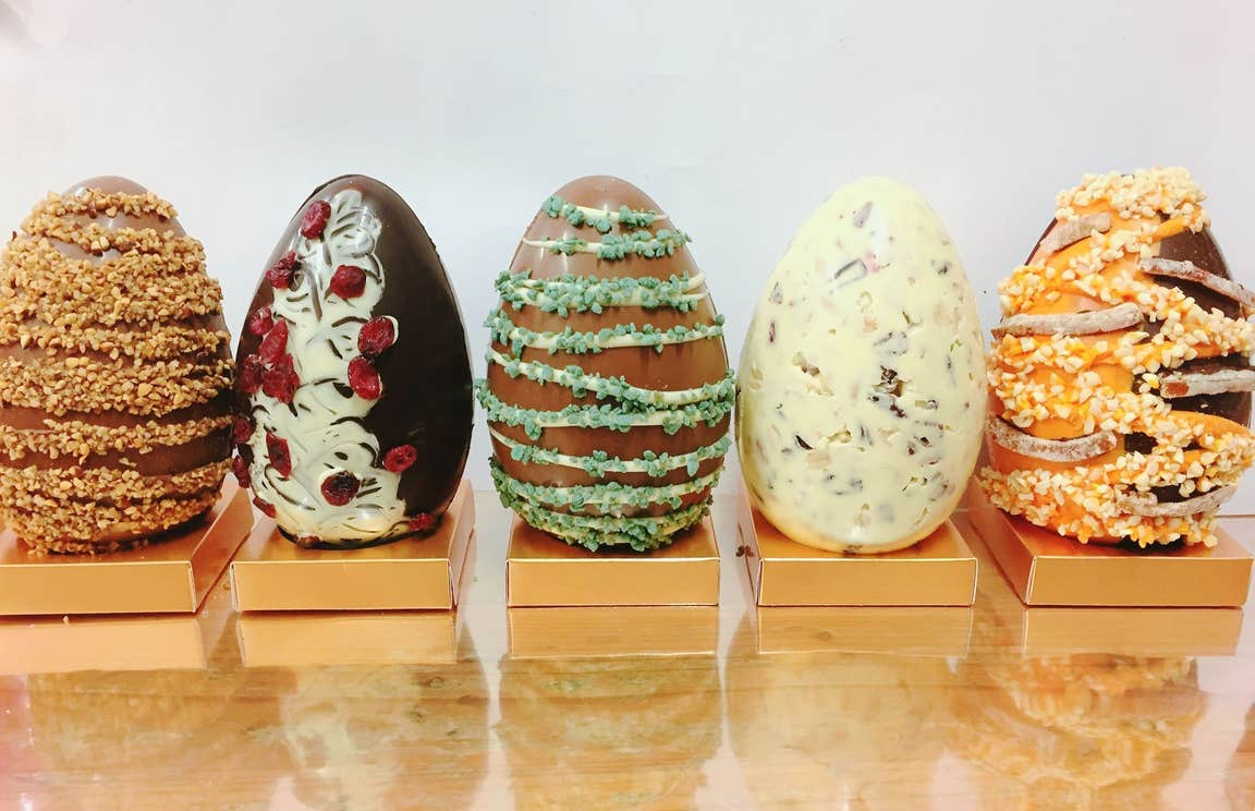 A selection of handmade Easter Eggs from Wilde Chocolates, Co Clare