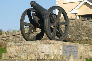 A memorial cannon near Ballinamuck