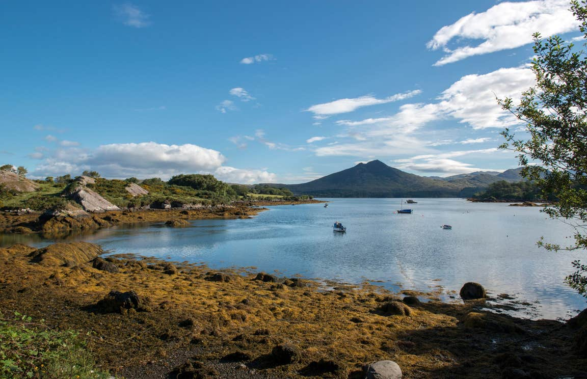 Views out across water to a mountain on Dursey Island, Cork