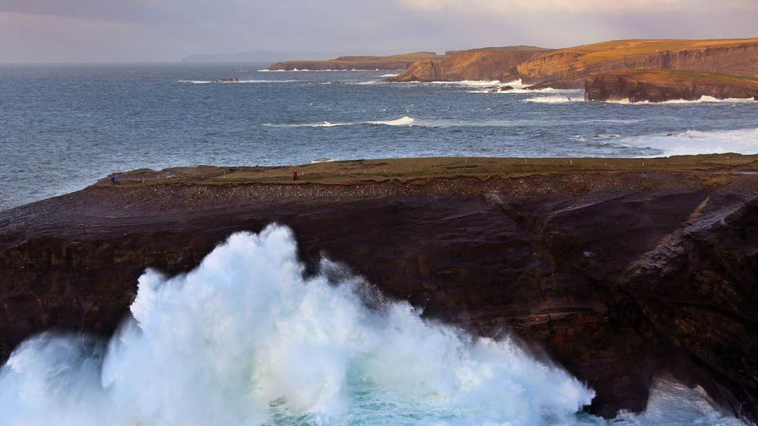 Waves crashing into the Kilkee Cliffs, Clare