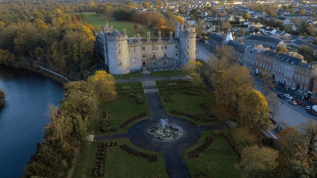 Kilkenny Castle aerial view