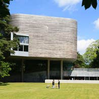 An exterior view of The Glucksman Gallery and lower grounds of University College Cork