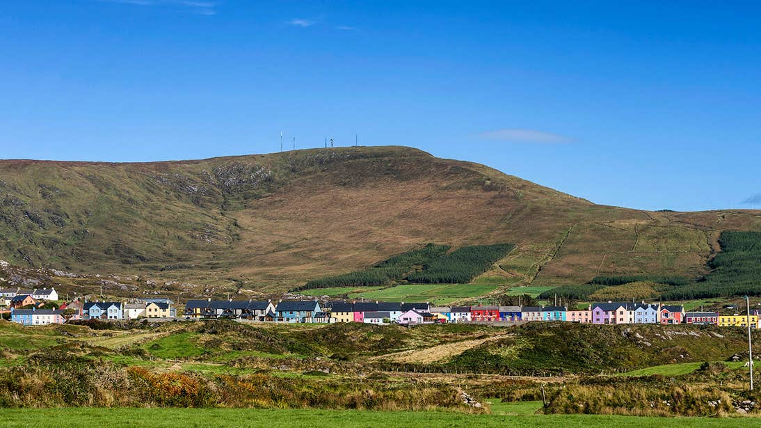The colourful houses of Allihies on the Beara Peninsula in West Cork