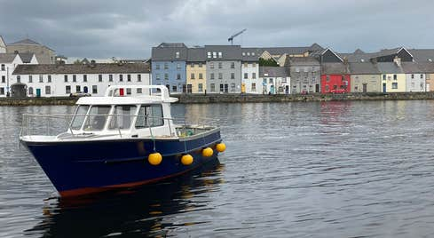 Boat at The Claddagh at Galway Bay Boat Tours Galway City