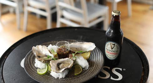 Oysters and stout at Guinness Storehouse, Dublin