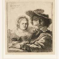 Rembrandt (1606 - 1669) Self-portrait with Saskia (1636) (Detail). '© Ashmolean Museum, University of Oxford