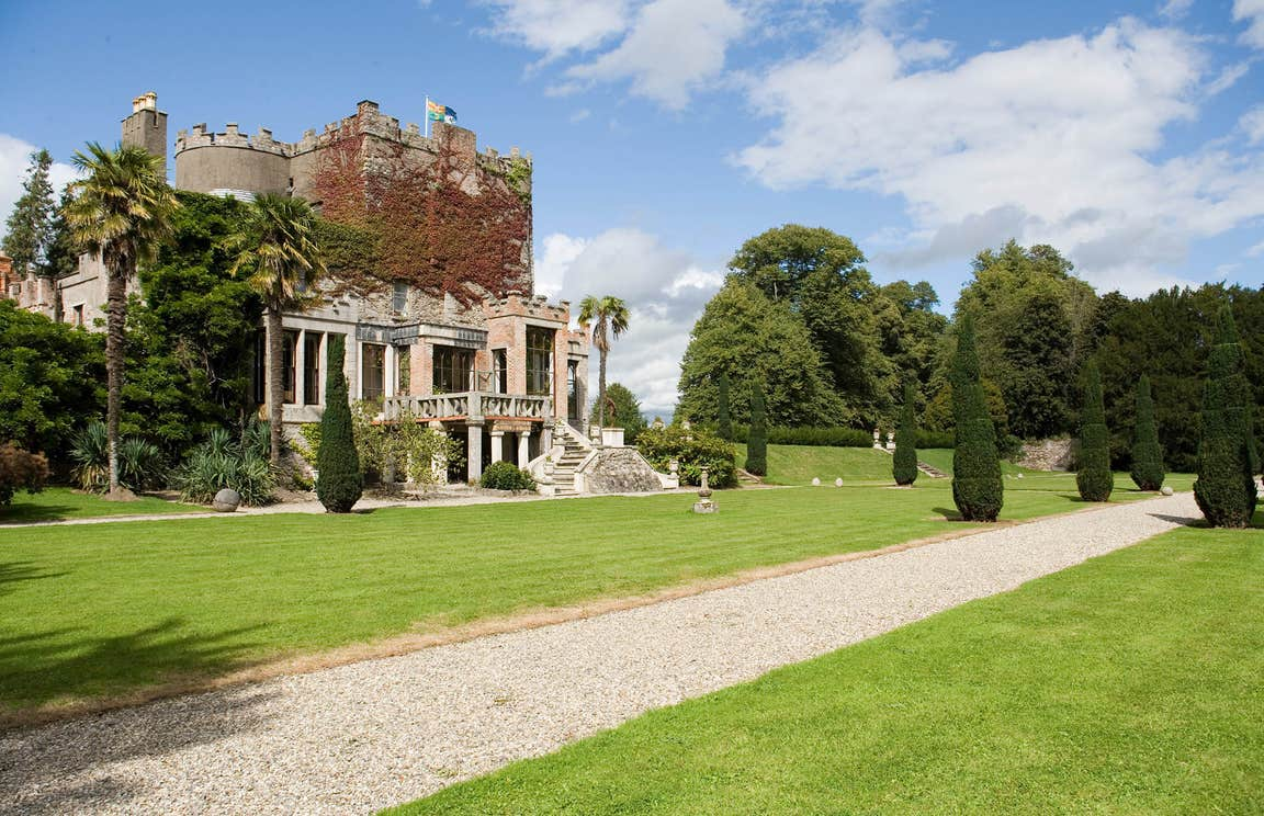 A sunny day in the gardens of Huntington Castle in County Carlow