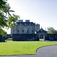 Sunny day at Portumna Castle and Gardens, Portumna, County Galway
