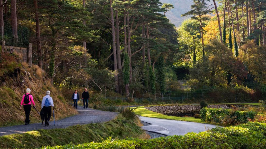 People walking in Glenveagh National Park, Donegal
