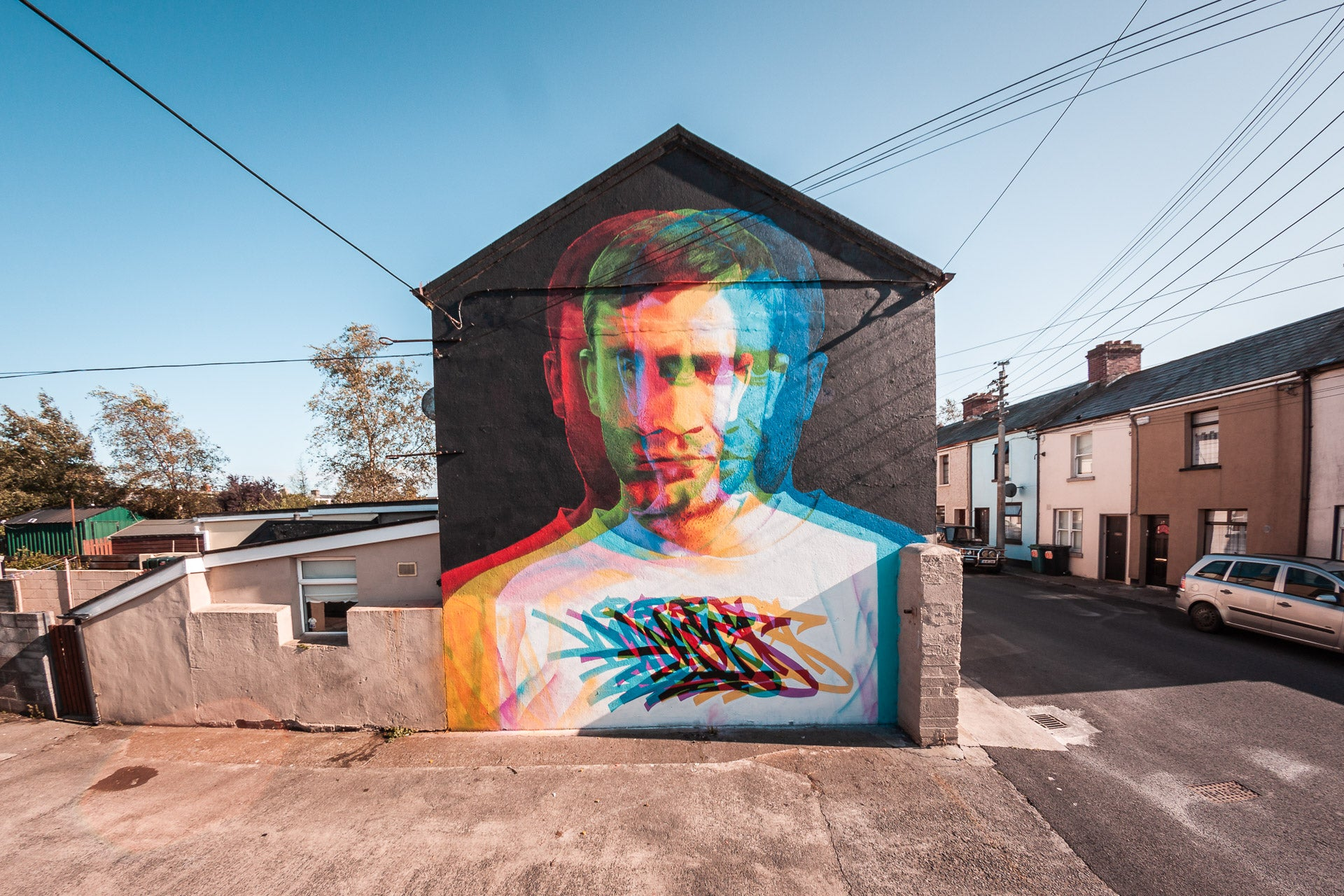 Artwork from artist Aches created for Waterford Walls 2019.