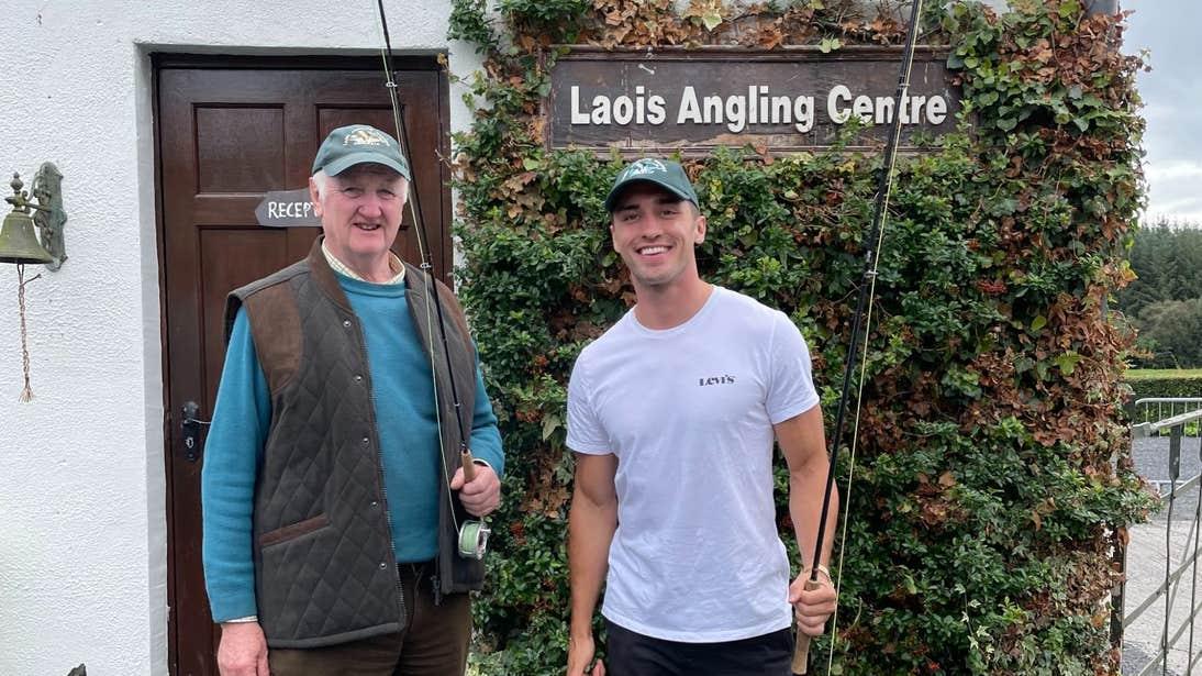 Greg O'Shea standing outside Laois Angling Centre