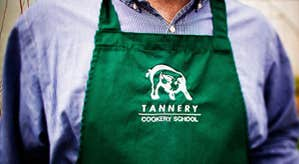 A green apron at Tannery Cookery School