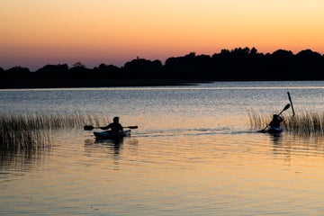 Image of kayakers on the lake in Glasson in County Westmeath