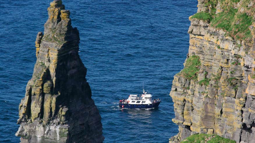 Journey along the 6km of coastline from Doolin Pier on the Doolin2Aran Ferry.