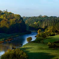 View of the River Boyne by Dunmoe Castle, County Meath