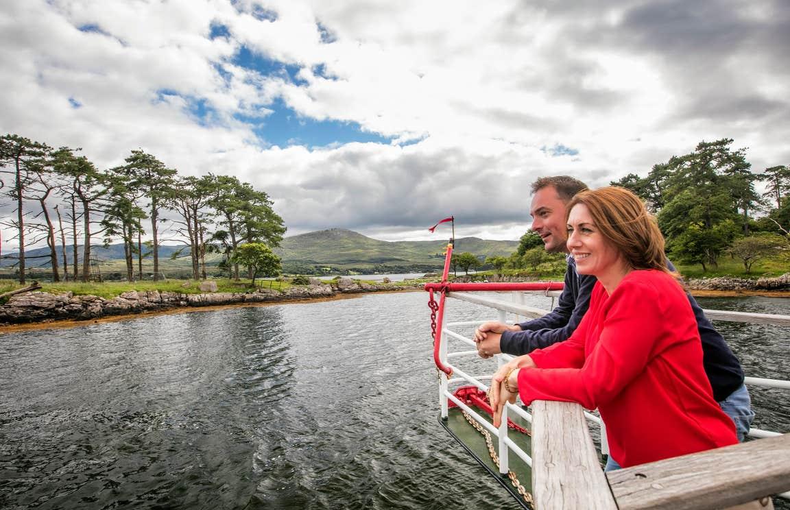 Two people enjoying a tour on Seafari, Kenmare, Kerry