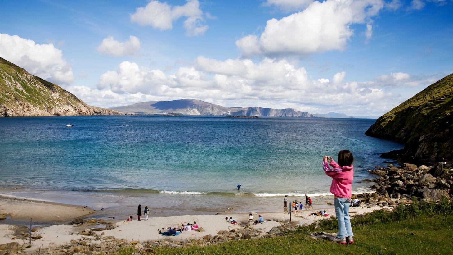 Take the whole family to the idyllic Keem Bay.
