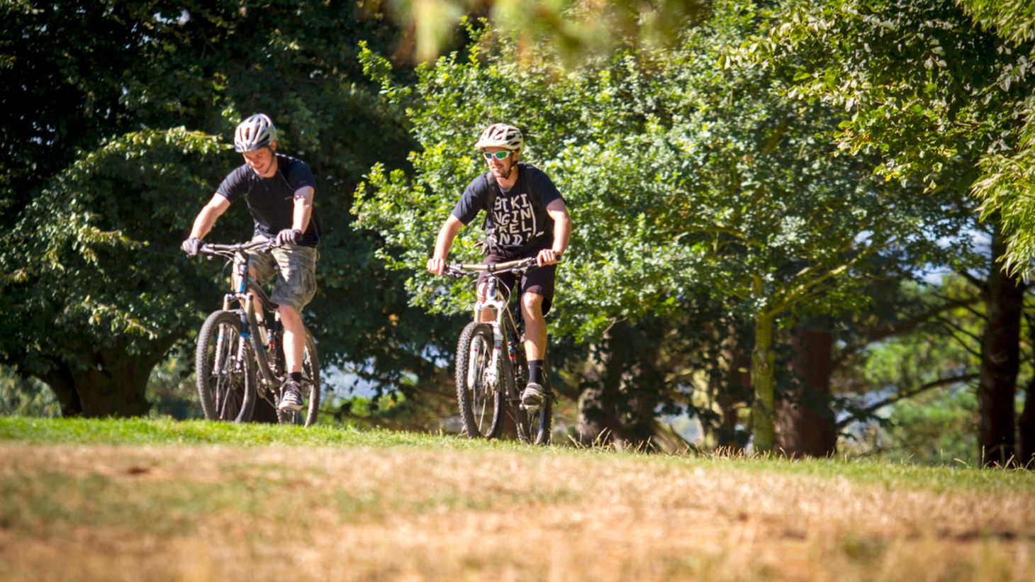 Experience the thrill of mountain biking.