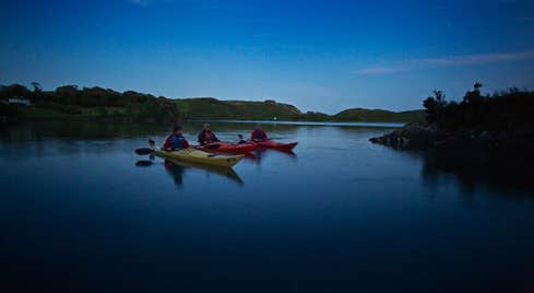 Image of kayakers on Lough Hyne in County Cork