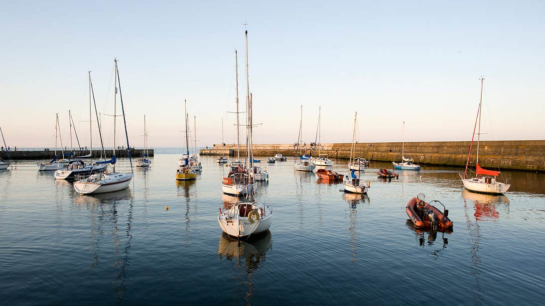 Boats at Bray Harbour, Co. Wicklow