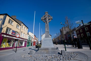 A high cross in Cashel Town in County Tipperary