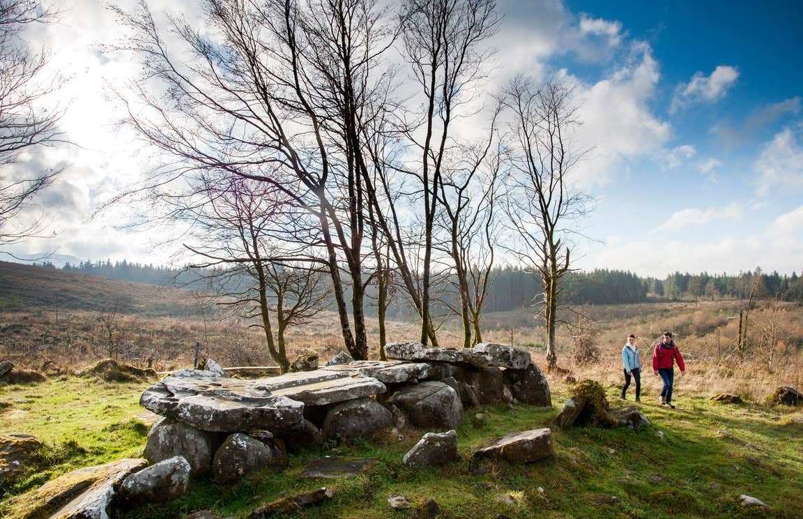 People walking through Cavan Burren park, Blacklion, Co. Cavan