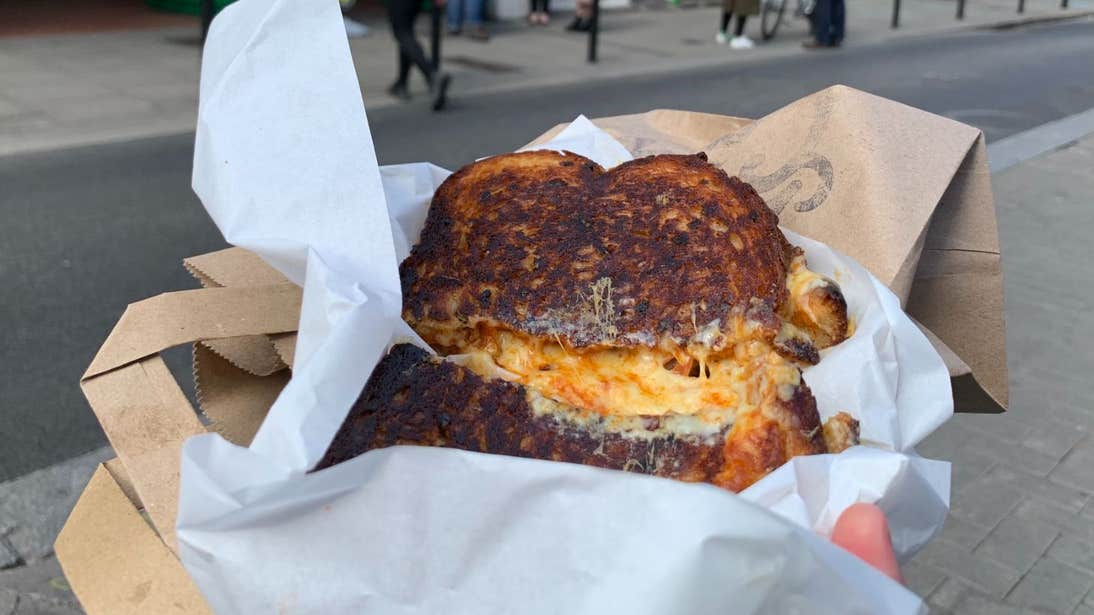 A toasted sandwich by Loose Cannon, Cheese and Wine, Dublin