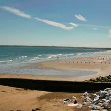 Image of a beach in Youghal in County Cork