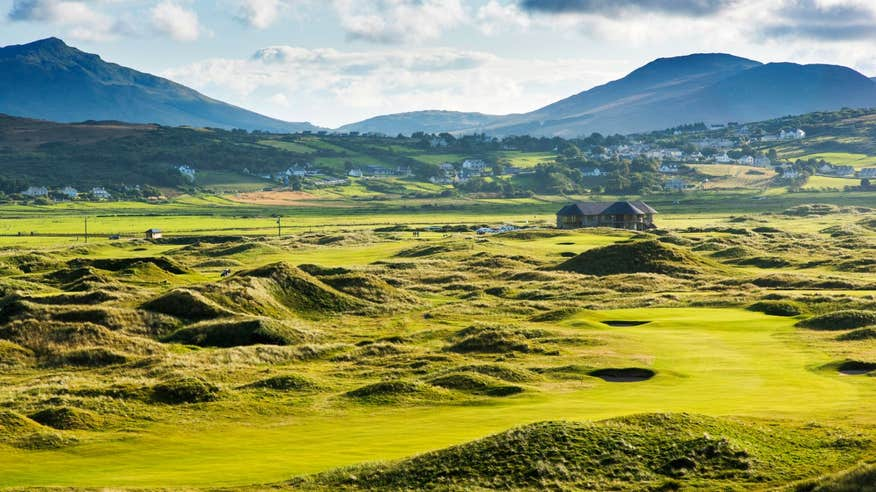 Chip in for birdie at Ballyliffin Golf Club in County Donegal.