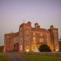 Slane Castle at dusk for Feast of The Spirits