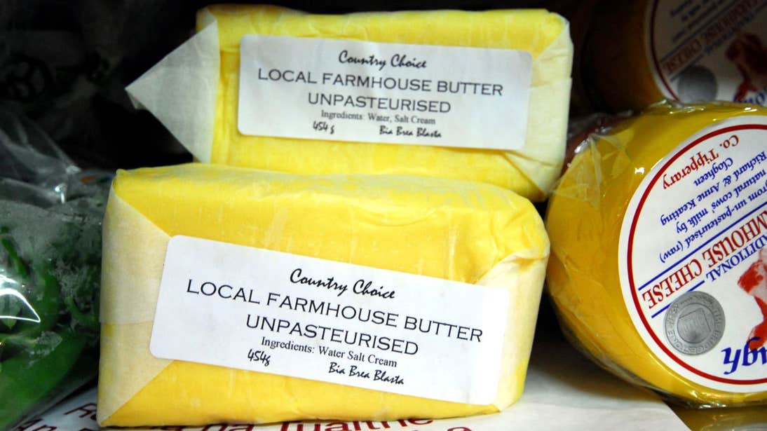 Fresh butter at Country Choice Café, Nenagh, Tipperary