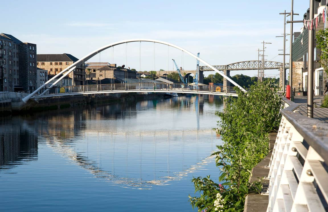 Bridges crossing a river in Drogheda, Co. Louth