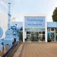 Entrance to Newbridge Silverware Visitor Centre