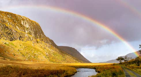 Rainbow in Glenveagh National Park, Letterkenny County Donegal
