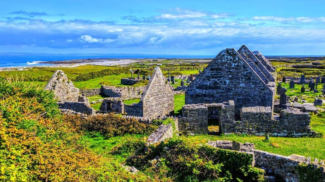 A sunny day at Na Seacht dTeampaill, Aran Islands, Galway